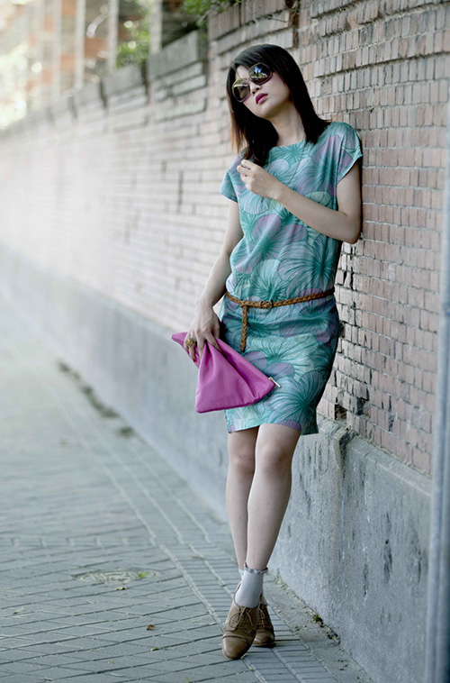 Colorful leaves dress